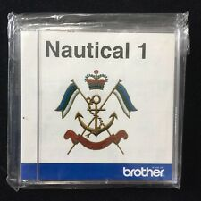 Embroidery Designs card Nautical 1 Sailing for Deco Brother Baby Lock White