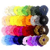 40Pcs/Pack Hair Scrunchies Velvet Elastics Hair Ties Scrunchy Bands Ties Ropes