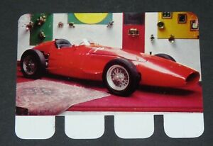 N°55 MASERATI FANGIO 1956 PLAQUE METAL COOP 1964 AUTOMOBILE A TRAVERS AGES F1