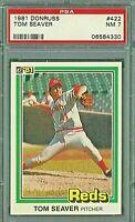 1981 Donruss #422 Tom Seaver Cincinnati Reds HOF PSA 7 NM and bonus cards added
