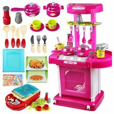 able Pink Electronic Children Kids Kitchen Cooking Girl Toy Cooker Play Set S7I1