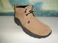 WOMEN'S JUSTIN Brown Lace-up Ankle LEATHER Boots Sz 8M