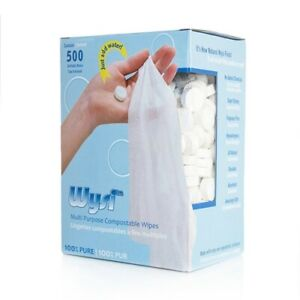 WYSI Multi-Purpose Expandable Wipes Just Add Water - 500 Compressed Tablets