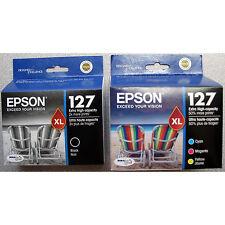 4-PACK Epson GENUINE 127 Black & Color Ink (RETAIL BOX) WORKFORCE 545 630 633