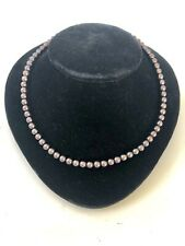 "Tahitian? Black Pearl Necklace 17""  Beautiful 14k Clasp"