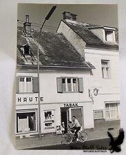 Vintage Photo Man & Child on Bicycle Tobacco Store AUSTRIA Photo