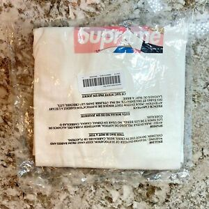 Supreme/Emilio Pucci Box Logo Tee (White/Dusty Pink) Size L