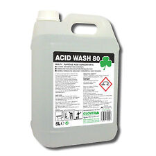 Concrete Cleaner 5Ltr Acid Wash Removes Lime Dust & Rust Staining from Concrete
