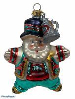 Santa Claus BEER Stein Charm Glass Christmas Tree Ornament Figure Figurine Fig
