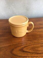 Longaberger Butternut Woven Large Mug Soup Chili with Coaster Lid
