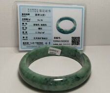 A Jade Jadeite Green Bangle With Certificate