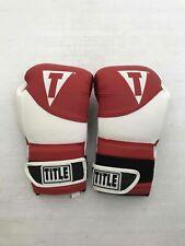 Title Boxing Genuine Leather Gloves Gel Enforced Lining
