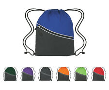 Two Tone Drawstring Backpacks Lot Of 150