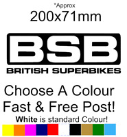 BSB Sticker Race track decal motorcycle British superbikes decal funny Racing