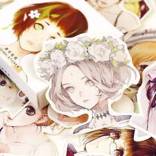 45Pcs Cute Girl Paper Stickers Diary Decoration DIY Scrapbook Adhesive Sticker