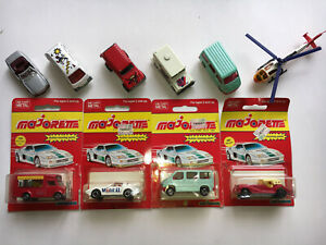 Vintage Rare Majorette Diecast lot of 10 Loose/ Carded Cars Trucks Helicopter