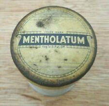 Vintage Mentholatum White Glass Jar
