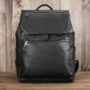 Large Soft Genuine Leather Backpack Rucksack Casual Schoolbag Satchel Laptop Bag