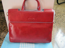 Piquadro Red Square Black Expandable Briefcase/Casual Office bag CA1560B2/R