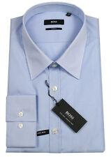 Boss Black Camicia di affari MAX IN 44 (slim fit) CELESTE EASY IRON