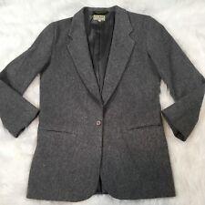 L.L. Bean Womens Blazer Size 10 Vintage Wool Cashmere Gray Career
