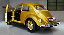 VW 1500 Beetle 1967 Car Metallic Gold 1:24 Scale Diecast Detailed Model 24202