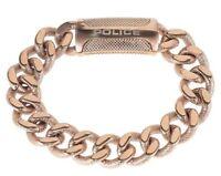Police Raider Men's Rose Gold stainless Steel Bracelet 25508BSRG/03-L