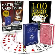 100 Card Tricks Kit - Automatic Deck & Svengali Deck Included