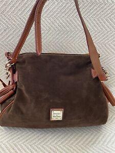 Dooney & Bourke Suede Tasseled Large Hobo Bag