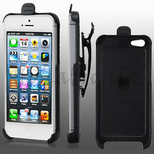 Apple iPhone 5 SE Holster Ultra Slim Hard Case Snap Rotating Swivel Belt Clip