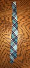 Blue Plaid Dressy Tie Dress Up ~ Boy'S Full Length Necktie Ages 8 - 14 Years