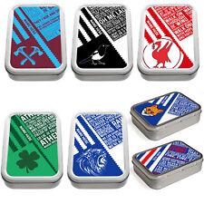 Personalised Retro Football Tobacco Tin 2oz Baccy Pill Storage Mens Gift RF
