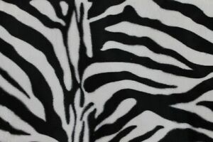 Möbelstoff Tierfellimitat Muster Zebra