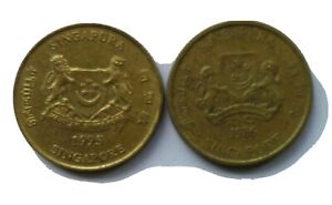 Singapore 2nd Series 5 cents coin 1986 & 1995