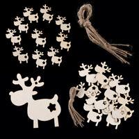 10pcs Elk Wooden Craft XMAS Ornament Christmas Tree Hanging Decorations Hot Sale
