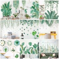 Tropical Foliage Leave Plant Wall Sticker Vinyl Decal Home Living Room Art Mural