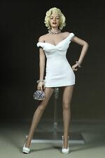 "1/6 Marilyn Monroe Classic White Dress Mini Skirt F12"" Big Bust Action Figure"