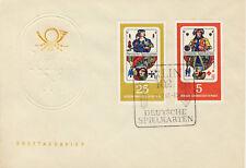 Ersttagsbrief DDR MiNr. 1298, 1301, Deutsche Spielkarten