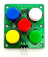 Analog Round Button for Arduino Keyboard Electronic Simulate Five Key