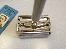 Vintage V-3 1950 Test of Date Code Gillette Super Speed TTO DE Safety Razor