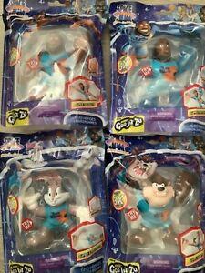Heroes of Goo Jit Zu Space Jam Figures Bugs Bunny, LeBron James, Tasmanian Devil