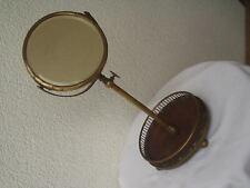 Antiker originaler höhenverstellbarer Jugendstil-Spiegel aus Messing um 1900
