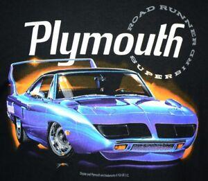 Plymouth Superbird Road Runner T-Shirts 100% Cotton Preshrunk - Black