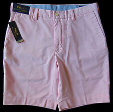 Men's POLO RALPH LAUREN Pink Pinpoint Cotton Shorts 34 NWT NEW Classic Fit Nice!