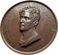 1829 ITALY Opera Composer Spontini Wreath Antique Genuine Italian Medal i80591