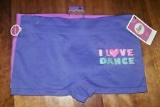 🌹 Girl's I Love Dance Boy Shorts Playground Panties Xl New Nwt Play Purple xmas