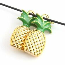 20x Hotsale Zinc Alloy Gold Pineapple Charms  Pendant Fit Necklace Jewelry J