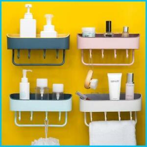 Simple Punch-free Bathroom Wall Mount Rack Kitchen Organizer Shower Shelf