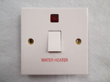 20AMP DOUBLE POLE SWITCH MARKED WATER HEATER WITH NEON (NO FLEX OUTLET)