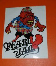 Pearl Jam Vedder sticker RARE  Nijmegen, Netherlands Concert Date: 2007